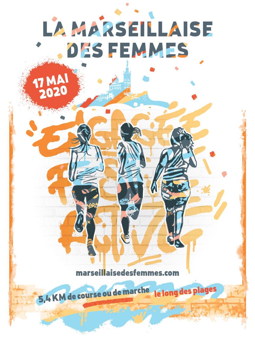 Affiche la marseillaise des femmes 2020